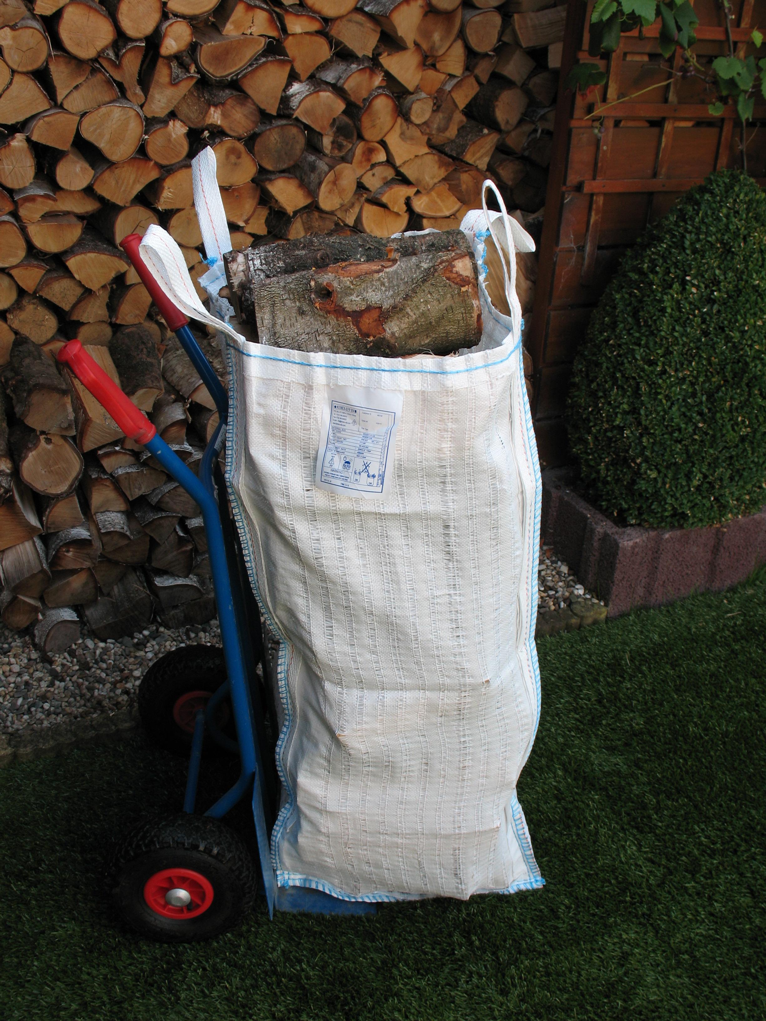 big bag abmessung 40x50x110cm f r holz atmungsaktives gewebe. Black Bedroom Furniture Sets. Home Design Ideas